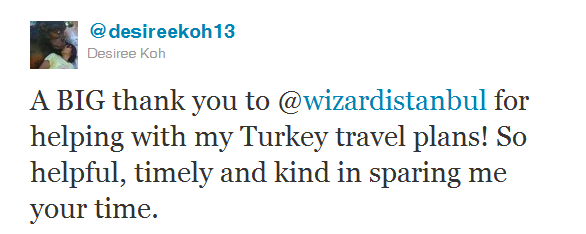 Wizard Istanbul traveller review - Desiree Koh
